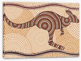 Bouncing kangaroo Stretched Canvas 33482007