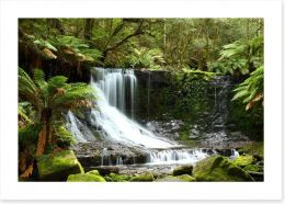 Beautiful Russell Falls, Tasmania