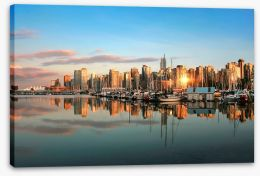 City Stretched Canvas 40282456