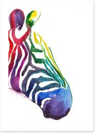 Rainbow stripe zebra
