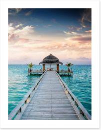 Pavilion on the pier Art Print 40560758