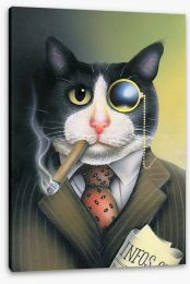 Monacle cat Stretched Canvas 41766456