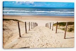 Way to the beach Stretched Canvas 41832922