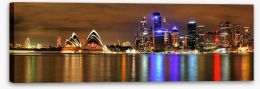 Sundown over Sydney Harbour Stretched Canvas 43637580