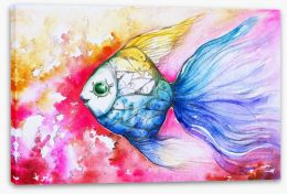 Rainbow carp Stretched Canvas 44107717
