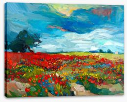 Blue sky meadow Stretched Canvas 44331491