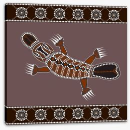 Platypus in the creek Stretched Canvas 44824162