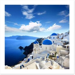 Santorini old village Art Print 45073377