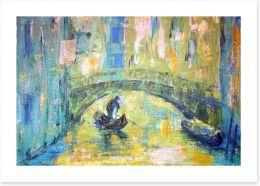 Under the Venetian bridge