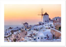 Santorini sunrise Art Print 45631935