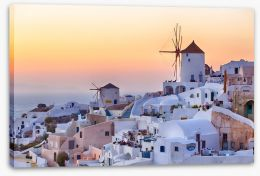 Santorini sunrise Stretched Canvas 45631935