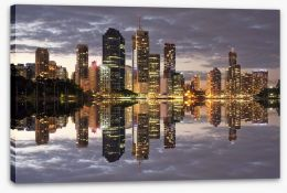 Brisbane city reflections Stretched Canvas 46583774