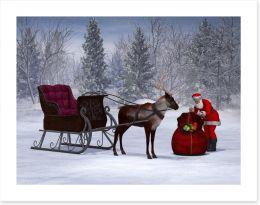 Preparing the sleigh
