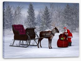 Preparing the sleigh Stretched Canvas 47246857