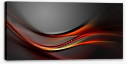 Swirling red Stretched Canvas 47856499