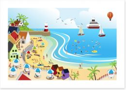 The seaside town