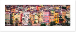 Colourful houses in Menton, Provence