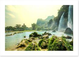 Cascade waterfalls in Vietnam