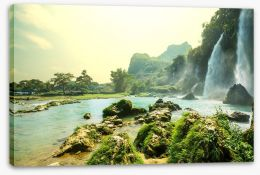 Cascade waterfalls in Vietnam Stretched Canvas 49388306