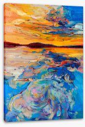 Golden seascape Stretched Canvas 49522845