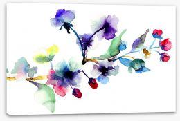 Blossoming branch Stretched Canvas 49814756