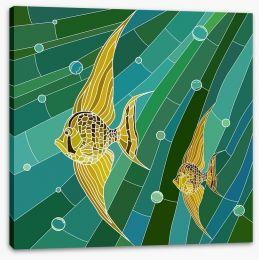 Yellow fish mosaic