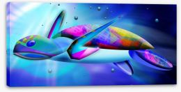 Sea turtle swim Stretched Canvas 50465005