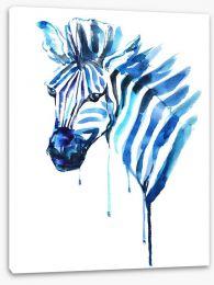 Blue zebra Stretched Canvas 50583573