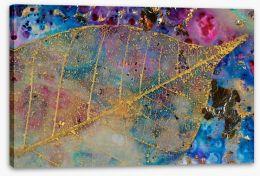 Gold filigree leaf Stretched Canvas 50780055