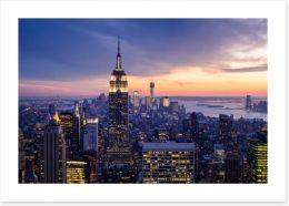 Skyscraper sunset, New York City