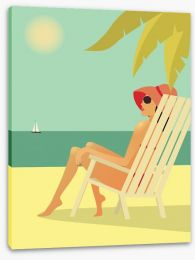 Retro summer Stretched Canvas 53170633