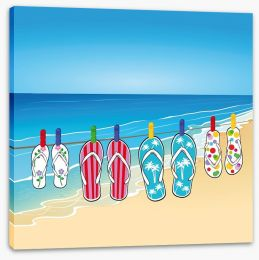 Beach days Stretched Canvas 53622722