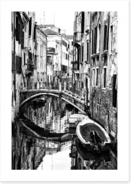 The canals of Venice Art Print 53770394