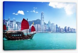 Traditional junk ship, Hong Kong