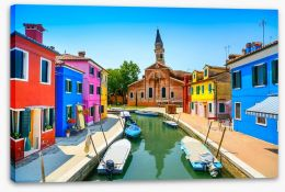 Burano canal church, Italy