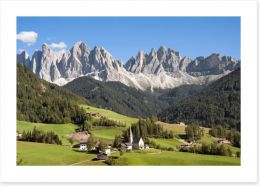 Val di Funes in the Tirol, Italy