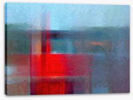 Red on blue Stretched Canvas 55518852