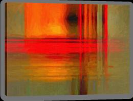Orange on ochre Stretched Canvas 55658844
