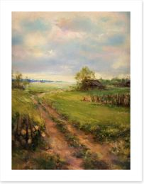 A stroll in the countryside Art Print 56034634