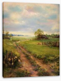 A stroll in the countryside Stretched Canvas 56034634