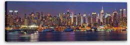 Manhattan nights panorama Stretched Canvas 56694110