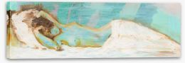 Sleeping nude in blue Stretched Canvas 57290529
