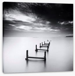 The broken jetty Stretched Canvas 57848168