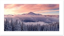 Soft mountain sunrise Art Print 58042395