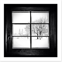 Through the window Art Print 58538459