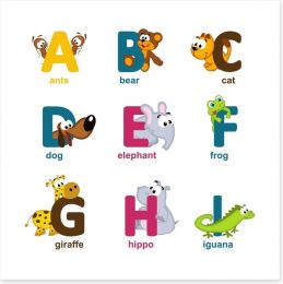 Alphabet animals - A to I