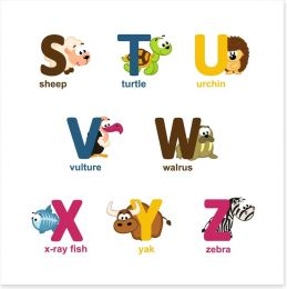 Alphabet animals - S to Z