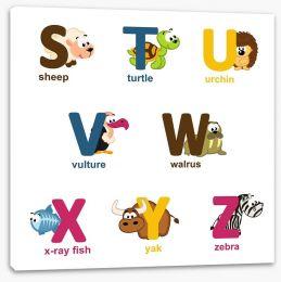 Alphabet animals - S to Z