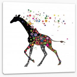 Anything goes giraffe Stretched Canvas 59750534