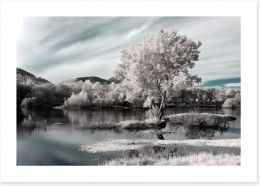 Winter river hues Art Print 59984461